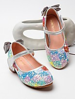 cheap -Girls' Flats Comfort PU Little Kids(4-7ys) Pink / Silver Summer
