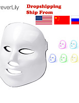 cheap -Foreverlily Beauty Photon LED Mask Therapy 7 Colors Mild Skin Care Skin Rejuvenation Wrinkle Removal Acne Facial Beauty Spa