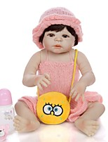 cheap -KEIUMI 22 inch Reborn Doll Baby & Toddler Toy Reborn Toddler Doll Baby Girl Gift Cute Washable Lovely Parent-Child Interaction Full Body Silicone KUM23FS01-WW141 with Clothes and Accessories for