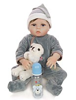 cheap -KEIUMI 22 inch Reborn Doll Baby & Toddler Toy Reborn Toddler Doll Baby Boy Gift Cute Washable Lovely Parent-Child Interaction Full Body Silicone 22D13-C228-T39 with Clothes and Accessories for Girls