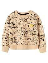 cheap -Kids Boys' Basic Geometric Print Long Sleeve Hoodie & Sweatshirt Beige