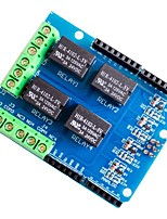 cheap -4 Channel 5v Relay Shield Module Four Channel Relay Control Board Relay Expansion Board for Arduino UNO R3 Mega 2560