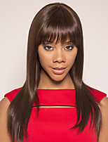cheap -Remy Human Hair Wig Short Silky Straight Pixie Cut Side Part Brown Silky Easy to Carry Women Capless Brazilian Hair Burmese Hair Women's Medium Brown#4 20 inch