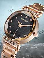 cheap -Women's Quartz Watches Quartz Stylish Fashion Casual Watch Black Analog - Rose Gold Black Blue One Year Battery Life