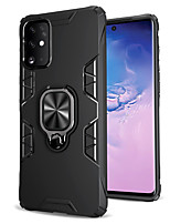cheap -Case For Samsung Galaxy Galaxy S10 / Galaxy S10 Plus / Galaxy S10 Lite Shockproof / Ring Holder Back Cover Solid Colored TPU / PC