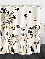 cheap -Painting Dandelion Digital Print Waterproof Fabric Shower Curtain for Bathroom Home Decor Covered Bathtub Curtains Liner Includes with Hooks