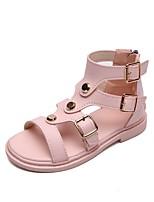 cheap -Girls' Comfort PU Sandals Little Kids(4-7ys) Black / Pink Summer