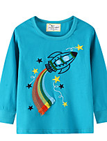 cheap -Kids Boys' Street chic Floral Long Sleeve Tee Blue