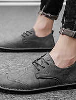 cheap -Men's Summer / Fall Business / Vintage / British Party & Evening Office & Career Oxfords Nappa Leather Breathable Wear Proof Black / Khaki / Gray