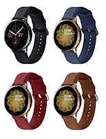 cheap -Watch Band for Samsung Galaxy Watch 42mm / Samsung Galaxy Watch Active / Samsung Galaxy Watch Active 2 Samsung Galaxy Modern Buckle / Business Band Quilted PU Leather Wrist Strap