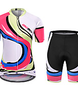 cheap -BIKEBOY Women's Short Sleeve Cycling Jersey Cycling Shorts Fuchsia Bike Quick Dry Sports Mountain Bike MTB Road Bike Cycling Clothing Apparel / Stretchy