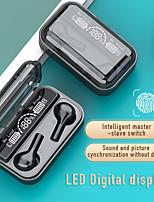 cheap -Tws True Wireless Earbuds Bluetooth 5.0 Headset Led Digital Display Binaural In-Ear Earplugs Sports Running Long Standby Battery Life Smart Touch Headphones