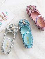 cheap -Girls' Sandals Flower Girl Shoes PU Little Kids(4-7ys) Blue / Pink / Silver Summer