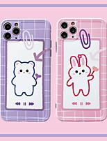 cheap -Case For APPLE iPhone 7 8 7plus 8plus XR XS XSMAX X SE 11 11Pro 11ProMax  Pattern Back Cover TPU bear rabbit cute