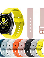 cheap -20mm/22mm Silicone Watchbands Strap for Gear S3 Classic / Samsung Galaxy Watch 46mm/42mm / Galaxy watch active / Galaxy watch active2/Gear2 R380/ Gear2 Neo R381/ Live R382/Gear Sport /S2 classic