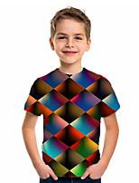 cheap -Kids Boys' Basic Holiday Color Block Short Sleeve Tee Rainbow