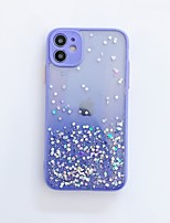 cheap -Case For Apple iPhone 7 8 7plus 8plus x xs xr xsmax SE 11 11pro 11promax Translucent Glitter Shine Back Cover Glitter Shine TPU