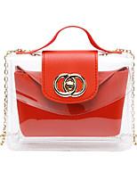 cheap -Women's Zipper / Chain PU Leather Bag Set 2020 Solid Color 2 Pieces Purse Set Black / Red / Yellow
