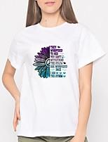 cheap -Women's Tee / T-shirt Short Sleeves Streetwear Sport Athleisure T Shirt Soft Everyday Use Daily Street