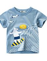 cheap -Kids Boys' Street chic Animal Short Sleeve Tee Light Blue