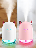 cheap -1pcs Small Demon Portable 230ml Humidifier USB Ultrasonic Dazzle Cup Aroma Diffuser Cool Mist Maker Air Humidifier Purifier with Romantic Light