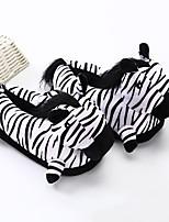 cheap -Adults' Kigurumi Pajamas Slippers Anime Zebra Onesie Pajamas Plush Black / White Cosplay For Men and Women Animal Sleepwear Cartoon Festival / Holiday Costumes