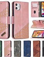 cheap -Case For Apple iPhone SE 2020 iPhone 11 Pro iPhone 11 Pro Max XR XS Max 7 8 Plus 6 6s Plus Wallet Card Holder with Stand Full Body Cases Solid Colored PU Leather