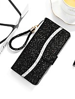 cheap -Case For Samsung Galaxy A51 A71 A10 A20 A20E A30 A40 A50 A70 A01 A11 A21 A41 A10S A20S M10 Wallet Card Holder with Stand Full Body Cases Glitter Shine PU Leather