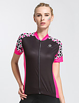 cheap -Women's Short Sleeve Cycling Jersey Black Purple Patchwork Bike Jersey Mountain Bike MTB Road Bike Cycling Quick Dry Sports Clothing Apparel / Stretchy