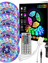 cheap -ZDM 65ft  4 x 5 Meter 2835 RGB LED Flexible Light Strip with Four Connector Integrated New IR44 Key Controller and Adapter Kit DC12V