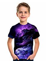 cheap -Kids Boys' Basic Geometric Print Short Sleeve Tee Purple