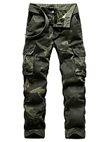 cheap -Men's Hiking Pants Hiking Cargo Pants Camo Outdoor Standard Fit Breathable Stretchy Comfortable Multi-Pocket Cotton Pants / Trousers Bottoms Dark Grey Army Green Light Grey Khaki Hunting Fishing