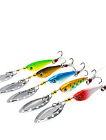 cheap -1 pcs Flies Fishing Lures Fishing Bait Buzzbait & Spinnerbait Flies Sinking Bass Trout Pike Bait Casting Other Lure Fishing Metal ABS