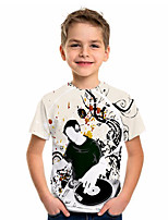 cheap -Kids Boys' Basic Jacquard Short Sleeve Tee White