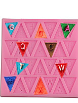 cheap -Baking Mold Triangle Capital Letters Silicone DIY Fondant Cake Mold English Alphabet Baking Mold