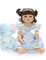cheap -KEIUMI 22 inch Reborn Doll Baby & Toddler Toy Reborn Toddler Doll Baby Girl Gift Cute Washable Lovely Parent-Child Interaction Full Body Silicone 22D01-C327-H22-T12 with Clothes and Accessories for