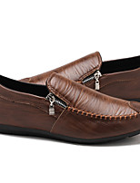 cheap -Men's Summer / Fall Business / Casual Daily Loafers & Slip-Ons PU Breathable Waterproof Non-slipping Dark Brown / Black