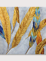 cheap -Handmade Textured Golden Feather Art Paintings Canvas Wall Art Modern Home living Room Office Decor Abstract Painting Rolled Without Frame