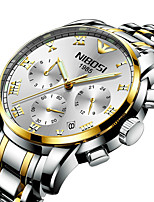 cheap -NIBOSI Men's Steel Band Watches Quartz Sporty Casual Water Resistant / Waterproof Stainless Steel Black / Silver / Gold Analog - Digital - White+Blue Black+Gloden White+Golden / Calendar / date / day