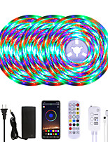 cheap -MASHANG Bright RGB LED Strip Lights Waterproof 15M Music Sync Smart LED Tiktok Lights 900LEDs 2835 Color Changing with 24 keys Remote Bluetooth Controller for Home Bedroom TV Back Lights DIY Deco