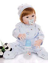 cheap -KEIUMI 22 inch Reborn Doll Baby & Toddler Toy Reborn Toddler Doll Baby Boy Gift Cute Washable Lovely Parent-Child Interaction Full Body Silicone 23D64-C440-T11 with Clothes and Accessories for Girls