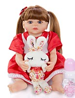 cheap -KEIUMI 22 inch Reborn Doll Baby & Toddler Toy Reborn Toddler Doll Baby Girl Gift Cute Washable Lovely Parent-Child Interaction Full Body Silicone 22D12-C156-H11-T23 with Clothes and Accessories for