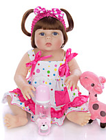 cheap -KEIUMI 22 inch Reborn Doll Baby & Toddler Toy Reborn Toddler Doll Baby Girl Gift Cute Washable Lovely Parent-Child Interaction Full Body Silicone 23D29-C310-H106-T05 with Clothes and Accessories for