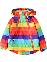 cheap -Kids Boys' Basic Color Block Rainbow Print Long Sleeve Blouse Blue