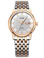 cheap -DOM Men's Sport Watch Automatic self-winding Sporty Casual Water Resistant / Waterproof Stainless Steel Silver Analog - White+Golden Black / White