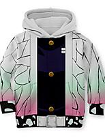 cheap -Kids Toddler Boys' Active Street chic Geometric 3D Print Long Sleeve Hoodie & Sweatshirt White