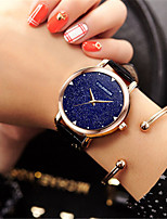 cheap -Women's Quartz Watches Quartz Modern Style Stylish Casual Water Resistant / Waterproof Genuine Leather Analog - White Black Blue
