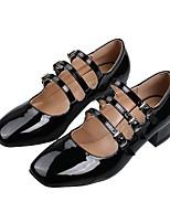 cheap -Women's Heels Summer Stiletto Heel Square Toe Daily Solid Colored PU Wine / Black / Beige