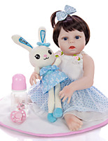 cheap -KEIUMI 19 inch Reborn Doll Baby & Toddler Toy Reborn Toddler Doll Baby Girl Gift Cute Washable Lovely Parent-Child Interaction Full Body Silicone 19D09-C387-T22 with Clothes and Accessories for