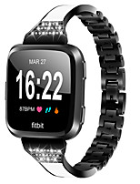 cheap -Ceramic Stainless Steel Bracelet For Fitbit Versa Metal Watchband Replacement Bracelet
